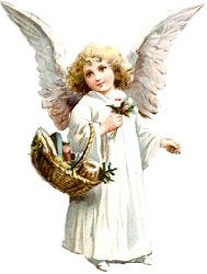 Angel with basket